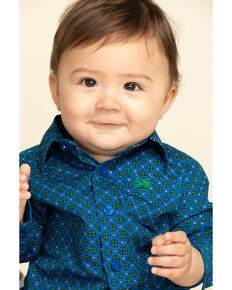 Cinch Infant Boys' Royal Blue Geo Print Long Sleeve Western Shirt , Royal Blue, hi-res