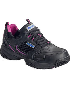 Nautilus Women's Steel Toe Slip Resistant Safety Shoes, Black, hi-res