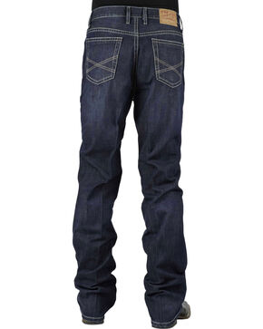 Stetson Men's Premium Standard Fit Boot Cut Jeans, Denim, hi-res