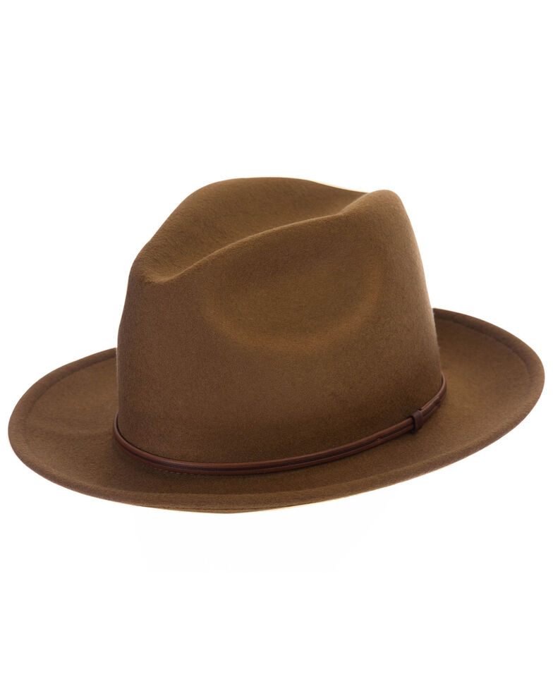 Black Creek Copper Crushable Western Wool Felt Hat , Rust Copper, hi-res