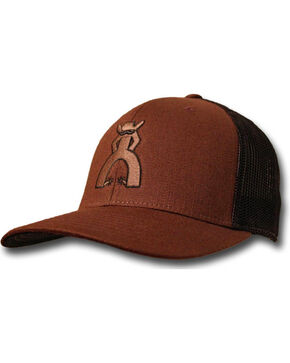 "Hooey Men's Punchy ""Peeler"" Mesh Ball Cap, Brown, hi-res"