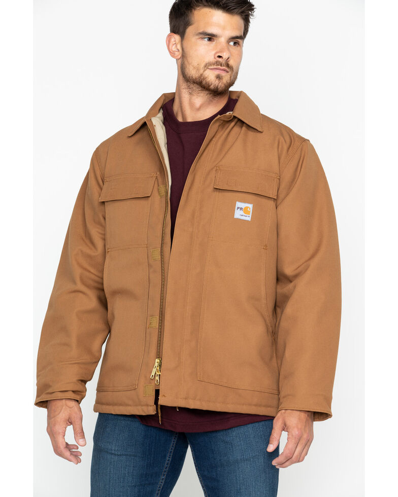 Carhartt Flame-Resistant Duck Traditional Coat, Carhartt Brown, hi-res