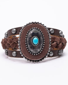 Idyllwind Women's Knot In The Mood Leather Bracelet, Brown, hi-res