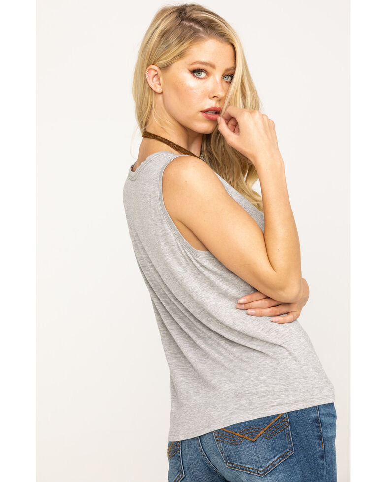 Idyllwind Women's Wake Up Trustie Tank , Heather Grey, hi-res