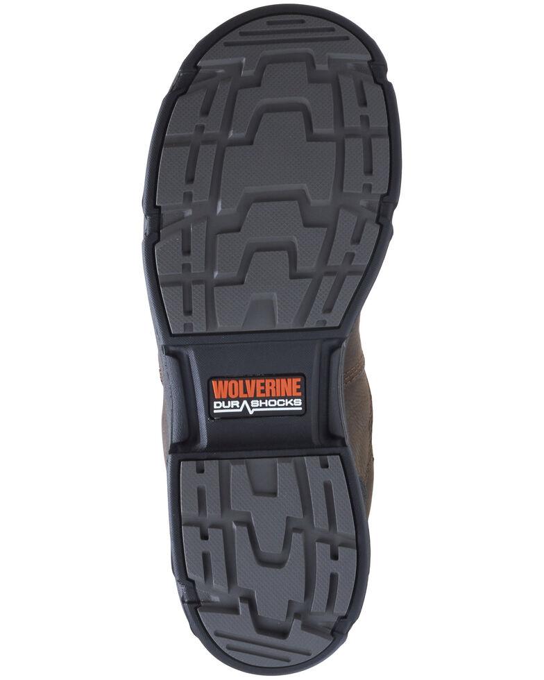Wolverine Men's Yukon Western Work Boots - Composite Toe, Dark Brown, hi-res