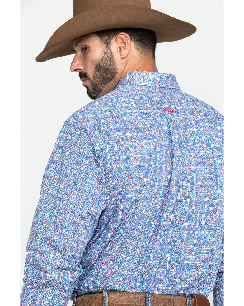 Ariat Men's Glaston Geo Print Long Sleeve Western Shirt - Big , Multi, hi-res