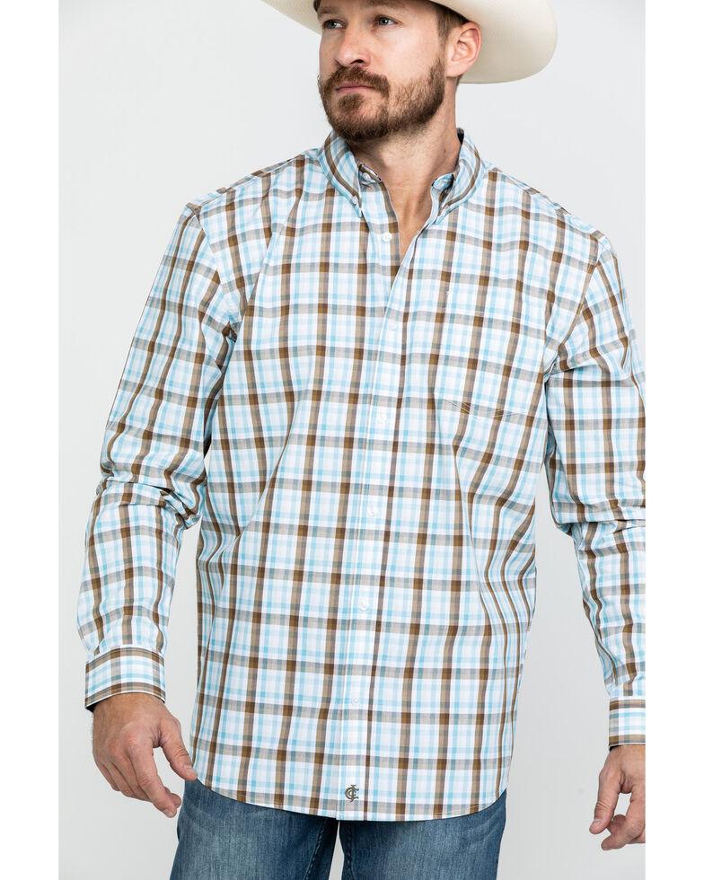 Cody James Core Men's Mountain Rain Med Plaid Long Sleeve Western Shirt , , hi-res