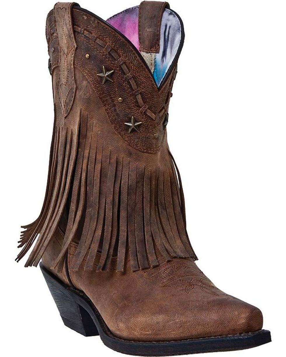 Dingo Women's Fringe Western Fashion Boots, Brown, hi-res