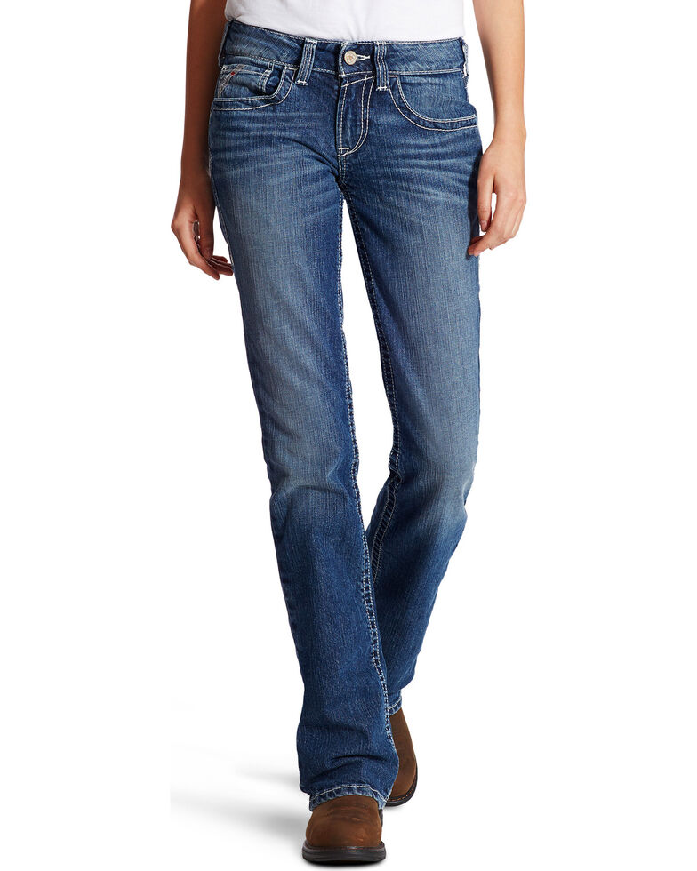 Ariat Women's FR Entwined Bootcut Jeans, Indigo, hi-res
