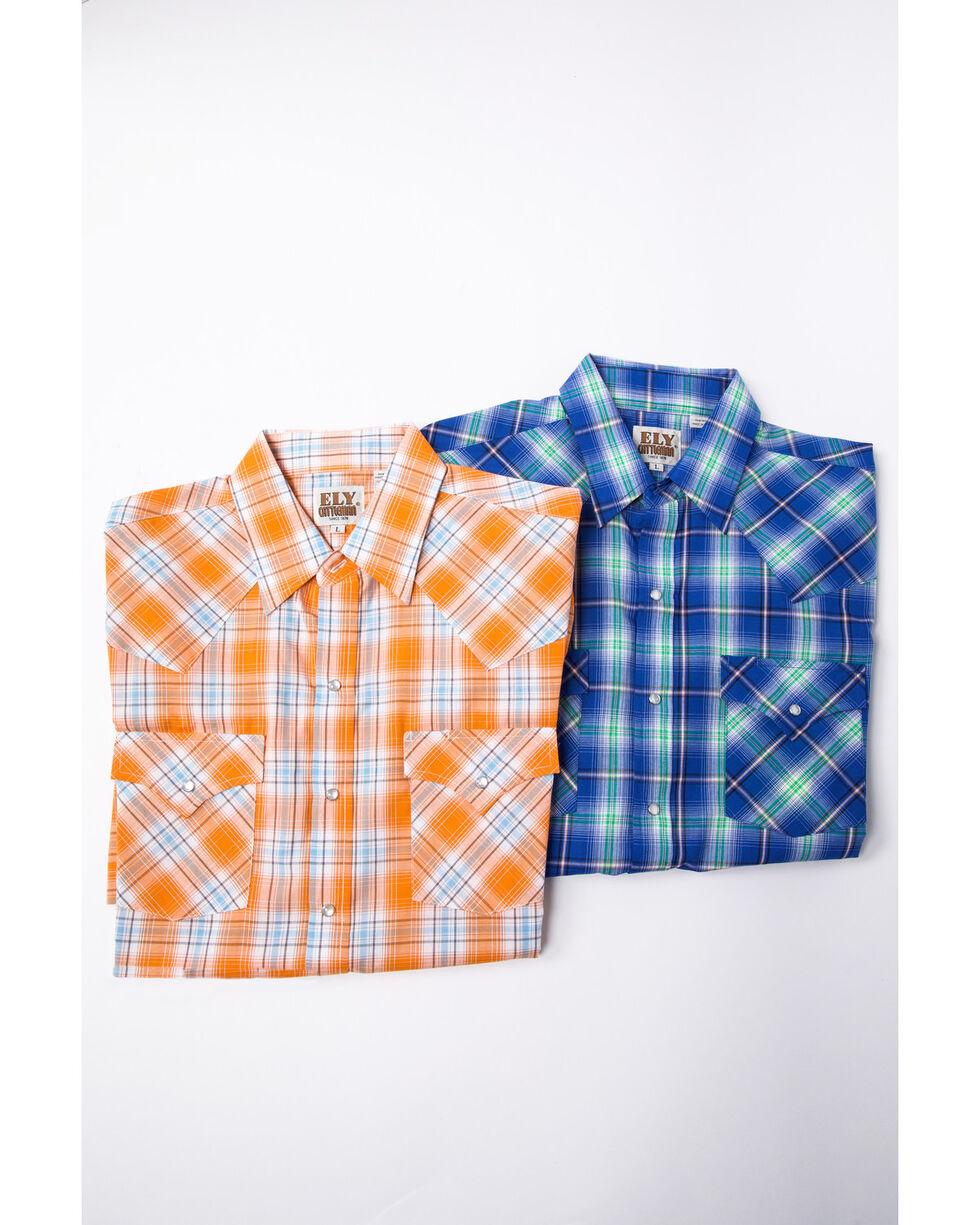 Ely Cattleman Men's Assorted Multi Pastel Check Plaid Short Sleeve Western Shirt , Multi, hi-res
