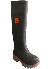 Twisted X Men's Mud Work Boots, Black, hi-res