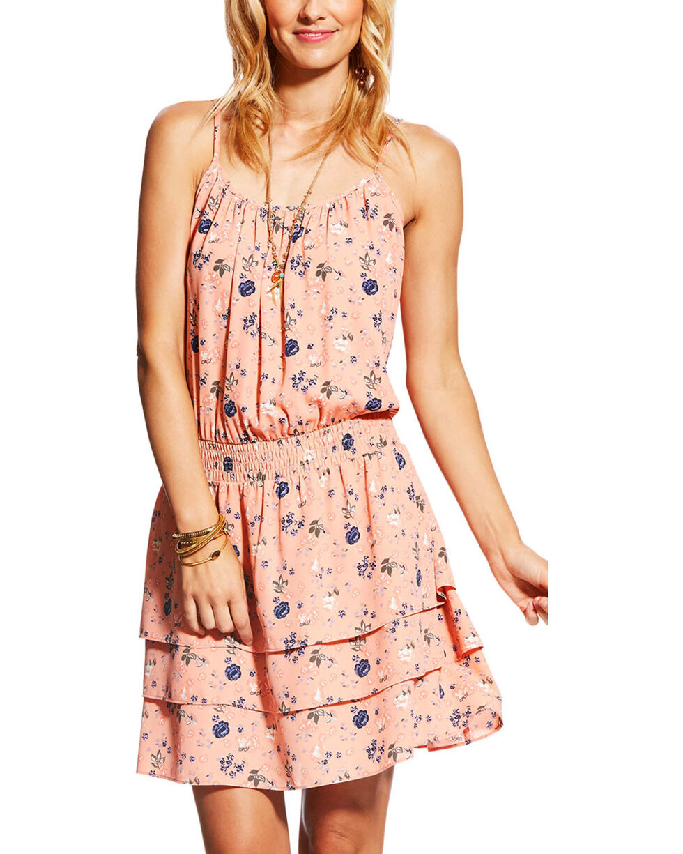 Ariat Women's Blush Vanessa Floral Dress, Blush, hi-res