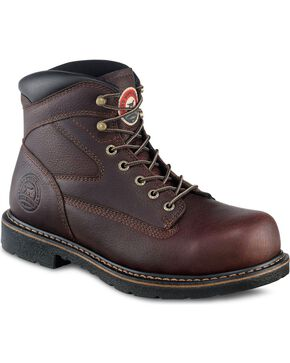 "Irish Setter by Red Wing Shoes Men's Farmington King 6"" Lace-Up Work Boots - Steel Toe, Brown, hi-res"