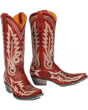 "Old Gringo Women's Nevada Heavy 13"" Western Fashion Boots, Red, hi-res"