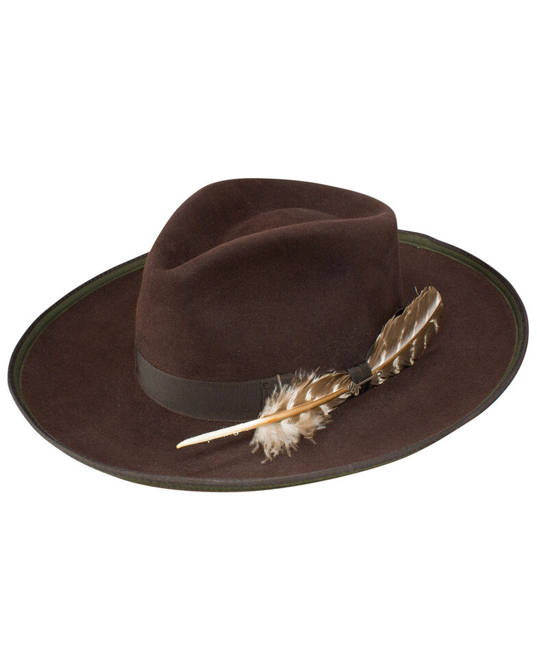 Stetson Women's Renegade Royal DeLuxe Felt Hat, Chocolate, hi-res