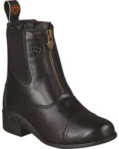 Ariat Kid's Devon III Paddock Boots, Black, hi-res
