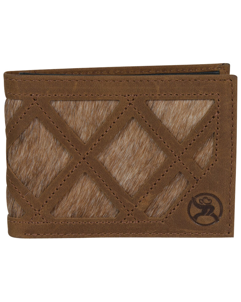 HOOey Men's Brindle Inlay Bifold Wallet, Brown, hi-res