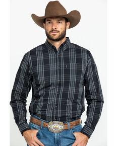 Dickies Men's BD Plaid Flex Long Sleeve Woven Work Shirt , Brown, hi-res