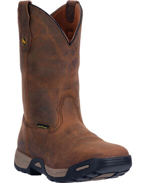 Dan Post Men's Hudson Waterproof Work Boots, Tan, hi-res