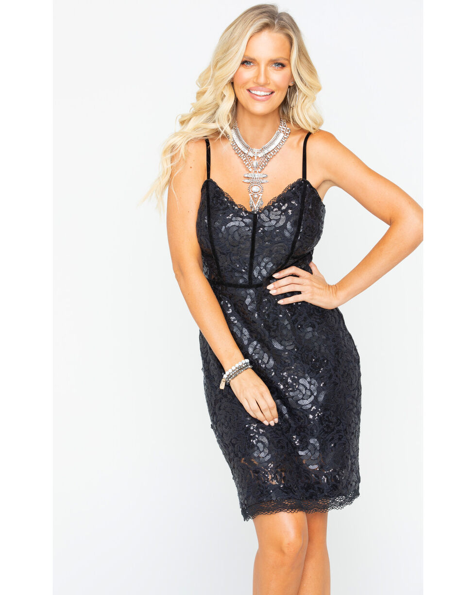 Idyllwind Women's Tour Life Lace Dress , Black, hi-res