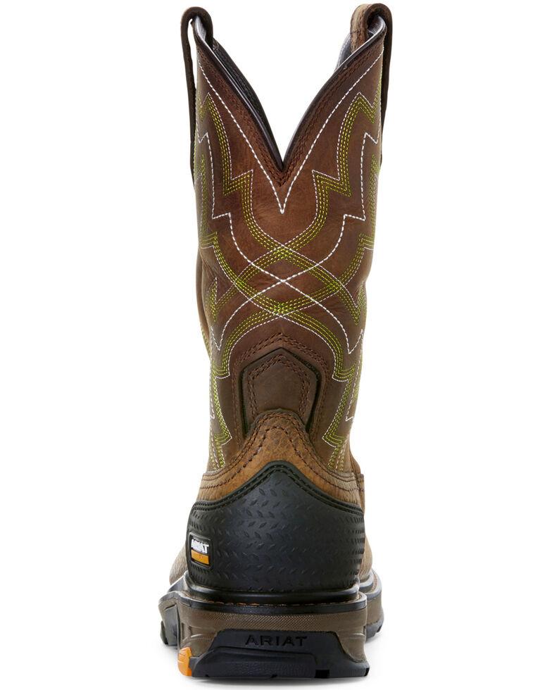 Ariat Men's Intrepid Force Western Work Boots - Soft Toe, Brown, hi-res