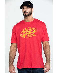 Hawx® Men's Red Original Script Graphic Work T-Shirt , Heather Red, hi-res