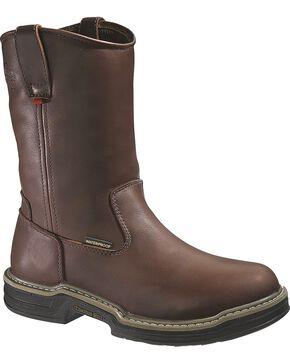 Wolverine Men's Buccaneer Multishox® ST WH Waterproof Wellington Work Boots, Dark Brown, hi-res