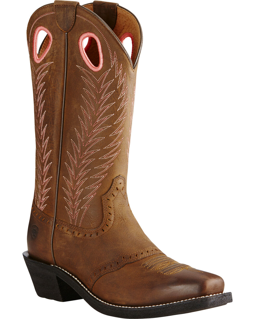 Ariat Women's Heritage Rancher Work Boots, Brown, hi-res