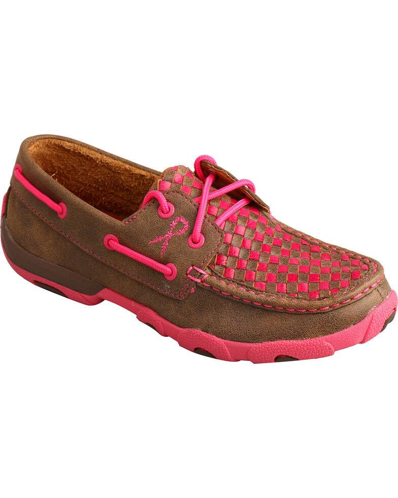 Twisted X Women's Driving Moccasins, Brown, hi-res