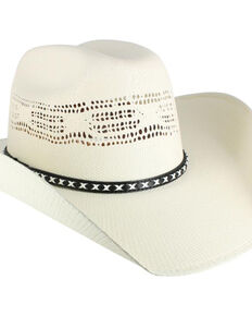 Cody James® Men's Bangora Straw Cowboy Hat, Natural, hi-res