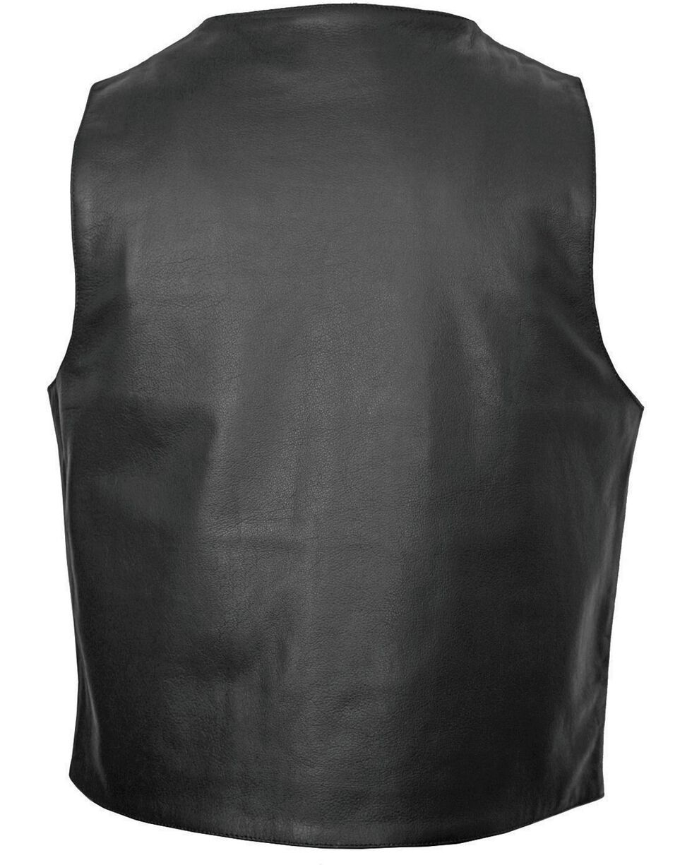 Interstate Leather Men's Shooter Motorcycle Vest, , hi-res