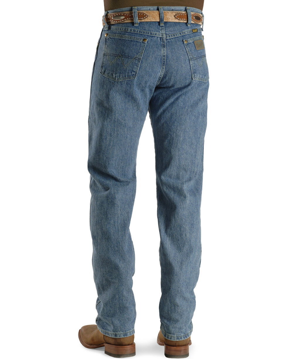 George Strait by Wrangler Men's Cowboy Cut Original Fit Jeans , Bleach Wash, hi-res