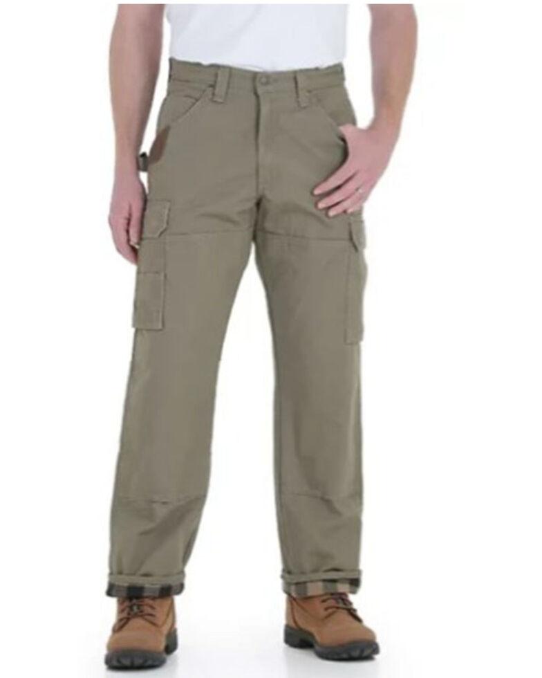 Wrangler Riggs Men's Bark Lined Ripstop Ranger Work Pants , Bark, hi-res