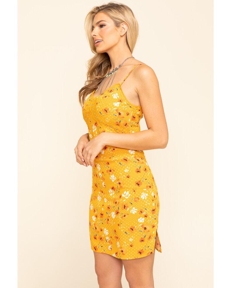 Idyllwind Women's Sun-Tea Floral Slip Dress, Yellow, hi-res
