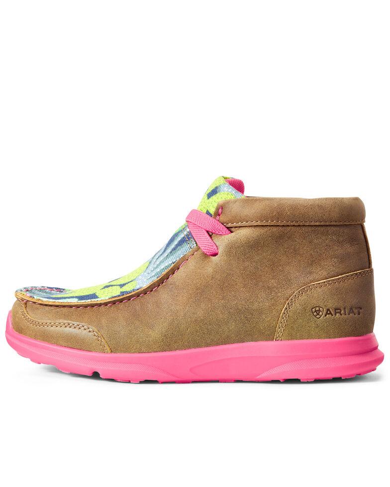 Ariat Boys' Spitfire Cactus Bomber Shoes - Moc Toe, Brown, hi-res