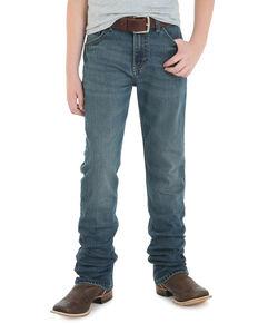 Wrangler 20X Boys' No.44 Fallon Low Slim Straight Jeans , Blue, hi-res