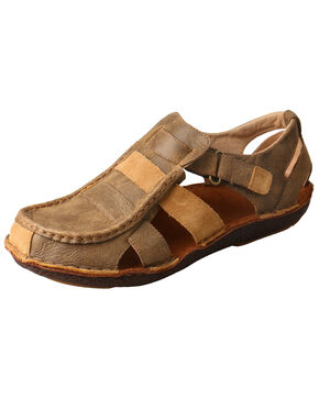 Twisted X Men's Hand Stitched Sandals, Brown, hi-res