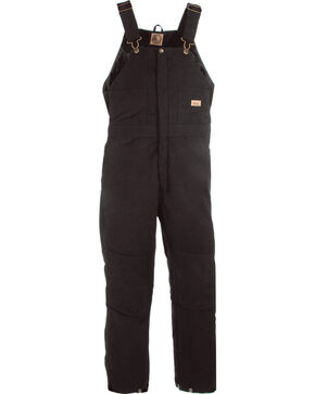 Berne Women's Washed Insulated Bib Overalls - 3X & 4X Reg., Black, hi-res