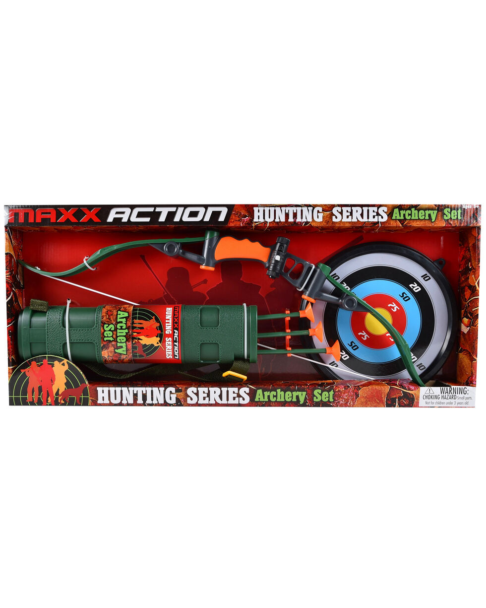 Maxx Action Hunting Series Hunting Bow Archery Set, Green, hi-res