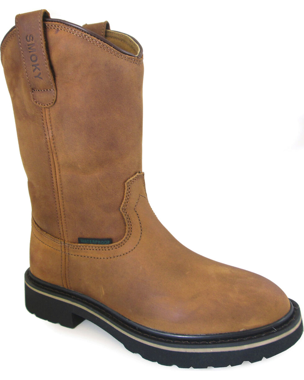 Smoky Mountain Youth Boys' Scottsdale Work Boots - Round Toe , Brown, hi-res