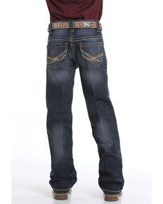 Cinch Boys' 8-18 Performance Denim Relaxed Boot Jeans, Indigo, hi-res