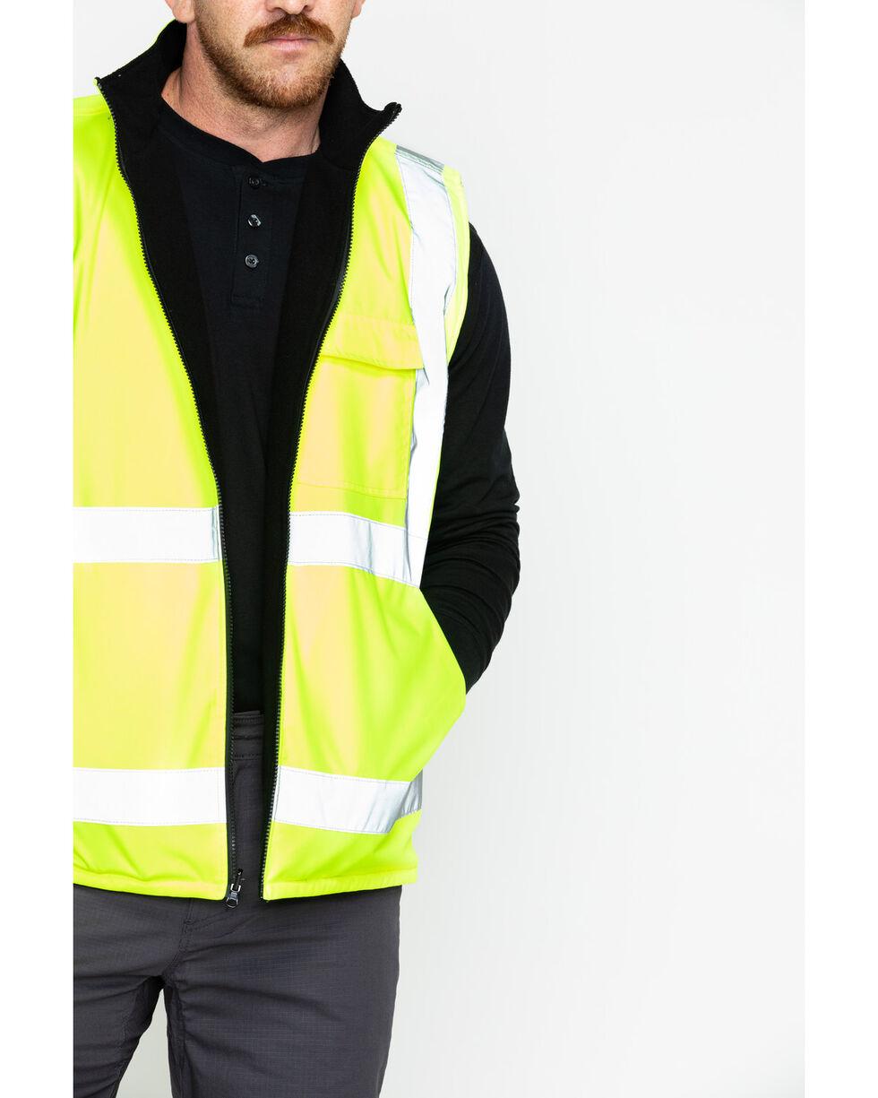 Hawx® Men's Reversible Reflective Work Vest - Big and Tall, Yellow, hi-res