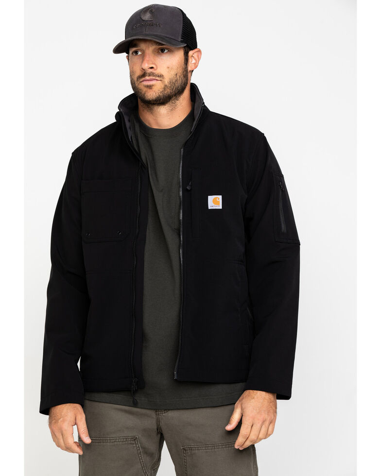 Carhartt Men's Roughcut Work Jacket, Black, hi-res
