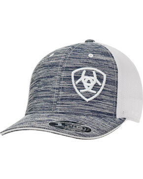 Ariat Men's Logo Embroidered Ball Cap, Grey, hi-res