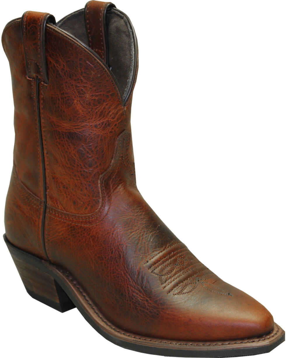 """Abilene Brown 7"""" Cowgirl Boots - Snip Toe , Brown, hi-res"""