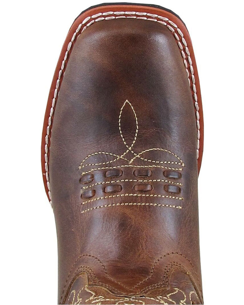 Smoky Mountain Girls' Shelby Embellished Western Boots - Square Toe, Brown, hi-res