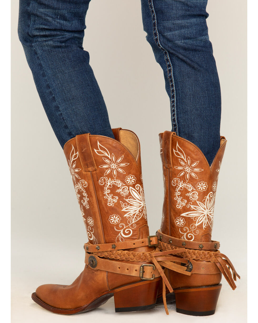 Shyanne® Women's Floral Festival Western Boots, Brown, hi-res