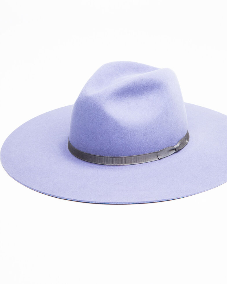 Rodeo King Women's Tracker Lilac Fur Felt Western Hat , Lavender, hi-res