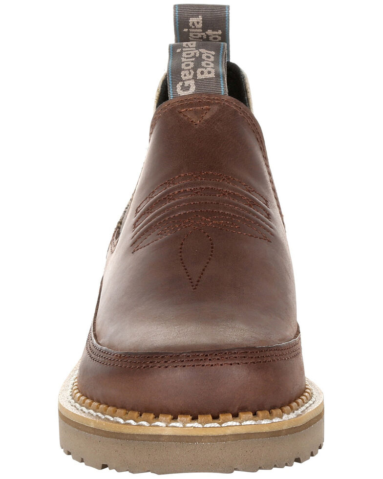 Georgia Boot Women's Giant Quilt Romeo Shoes - Round Toe, Brown, hi-res
