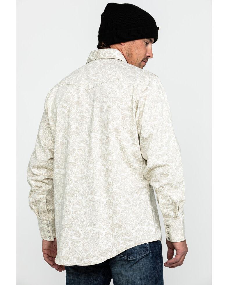 Wrangler 20X Men's FR Paisley Print Long Sleeve Work Shirt, Tan, hi-res